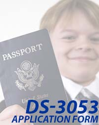 DS-3053 - Child Passport Application Form