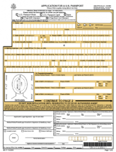 This is an image of Adaptable Printable Passport Application Forms
