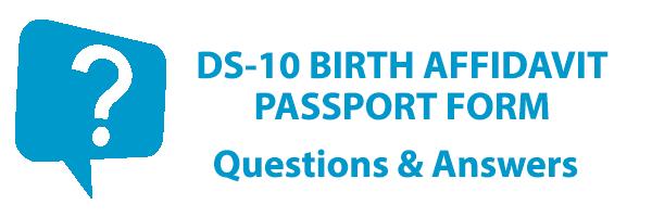 DS-10 Birth Affidavit Passport Form - Birth Affidavit to Get a Passport