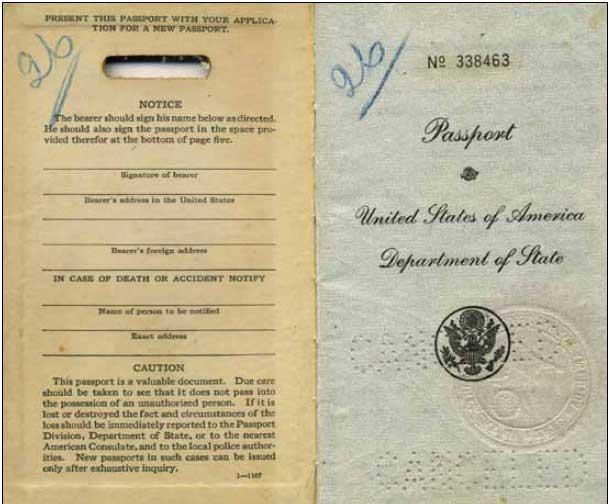 Inner First U.S. Passport