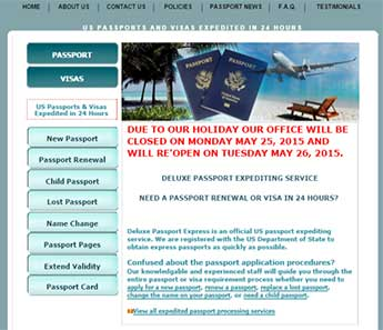 Deluxe Passport Express