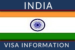 Indian Visa Information with Indian Flag