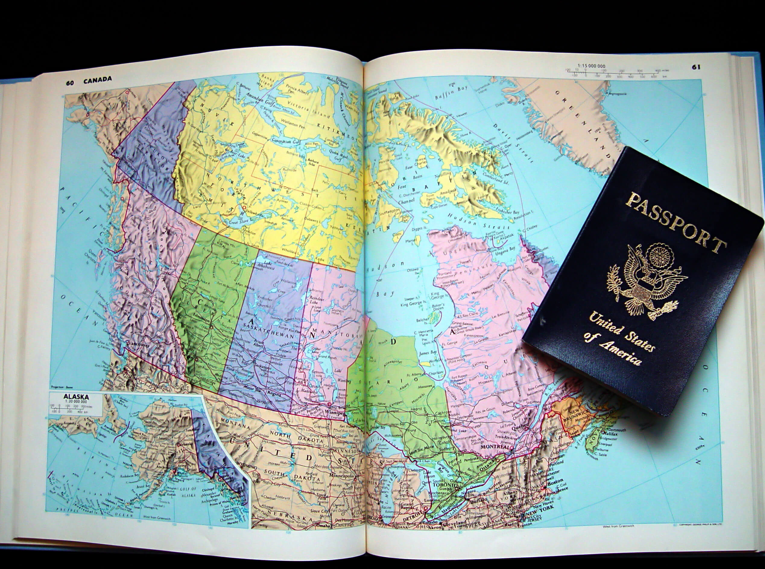 Passport Book For Travel To Canada