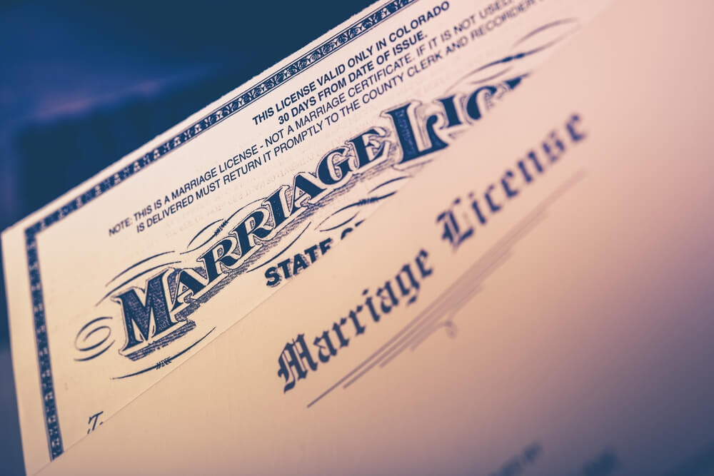 Duplicate Marriage License